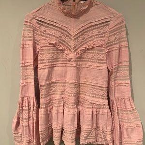 Parker pink lace blouse. Size medium